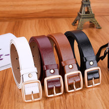 Women Skinny Waistband Belt Lady Brown Leather Belt Buckle Waist Gift Circle Pin Buckles Belt High Quality Outdoor Sports Hook(China)