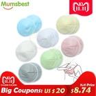 [Mumsbest] 14 PCS Reusable Bamboo Breast Pads Organic Bamboo Washable Contoured Feeding Pad Mum Contoured Nursing Pads