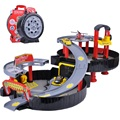 Envío libre coche órbita de estacionamiento cars toys dunk abs pista espiral de aleación vehículos de ferrocarril toys para niños el mejor regalo regalo