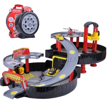 Free Shipping CARS Parking Orbit Car Toys Dunk Track ABS Spiral Roller Rail Alloy Vehicles Gift Toys for Children Best Gift