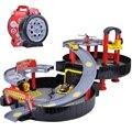 Frete grátis cars estacionamento órbita carro toys dunk pista abs espiral rolo ferroviário liga veículos presente toys para crianças melhor presente