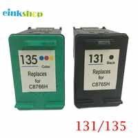 Einkshop 131 135 Nachgefüllt Tinte Patronen Ersatz für hp 131 135 Photosmart C3100 C3183 C3150 C3180 PSC1500 1510 1513 1600