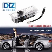 2 Pcs LED Porta Do Carro Logotipo Projetor Laser Bem-vindo Porta Fantasma sombra Luz para Land Rover freelander 2 Range Rover Evoque Discovery4