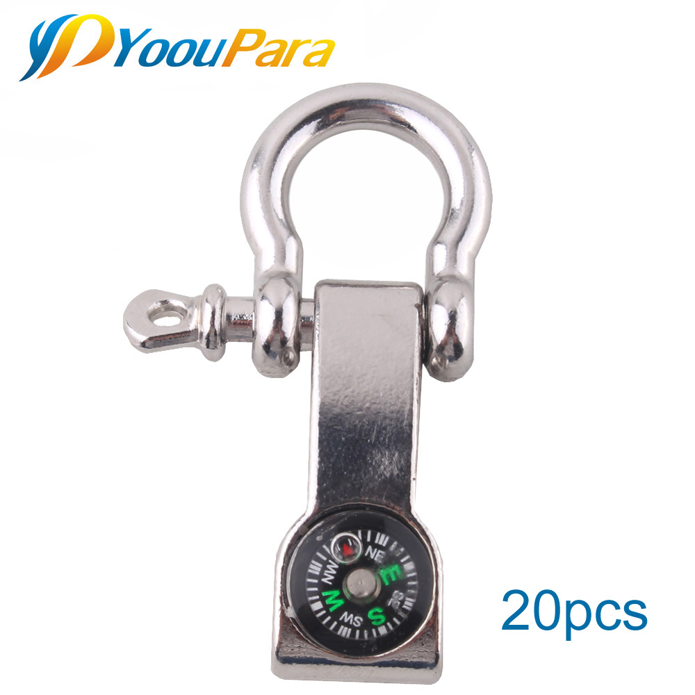 YoouPara Adjustable Alloy Anchor Shackle Compass Buckle