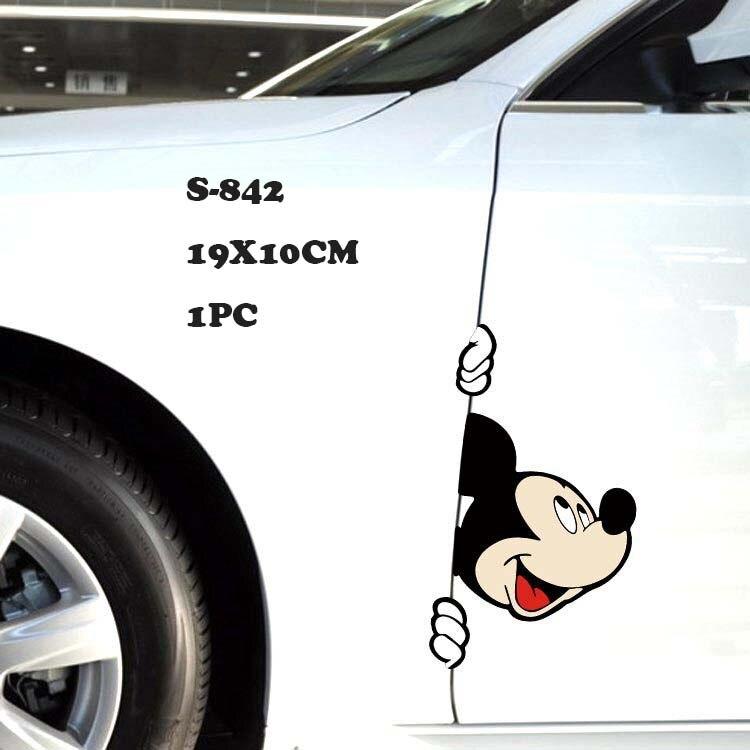 Автомобильная наклейка на кузов, боковая наклейка, большой размер, милый рисунок Микки Мауса, виниловая, для грузовика, для всего тела, для автомобиля, голова, аксессуары для укладки - Название цвета: S-842
