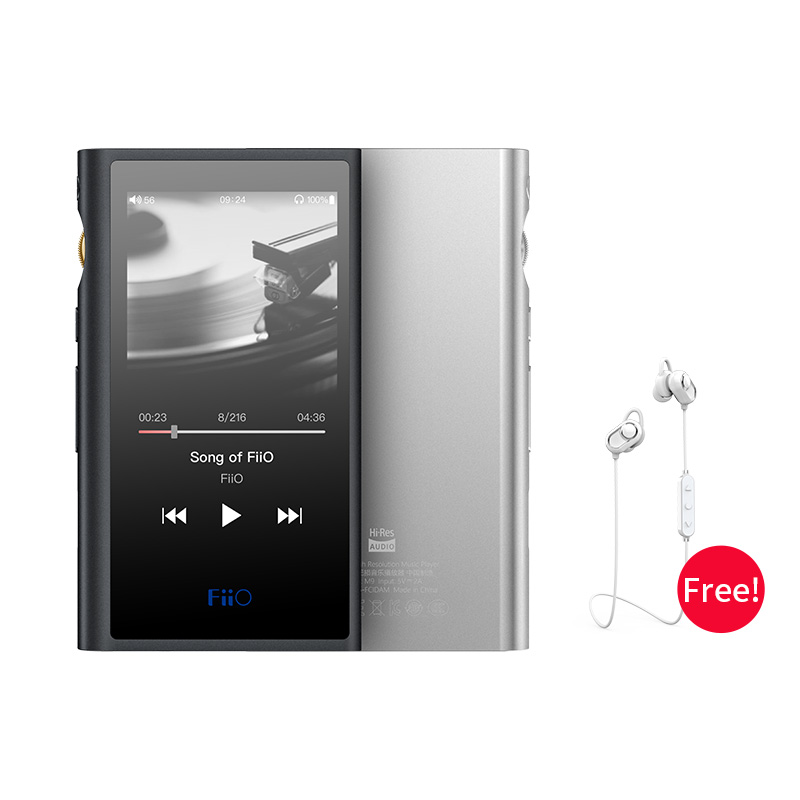 FiiO Android-based M9 HIFI Music MP3 Player with Balanced Output/Support WIFI/Air Play Bluetooth 4.2 aptx-HD/LDAC DSD128 USB DAC