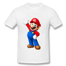 Dabbing Super Mario Printed Funny T-Shirts for Kids