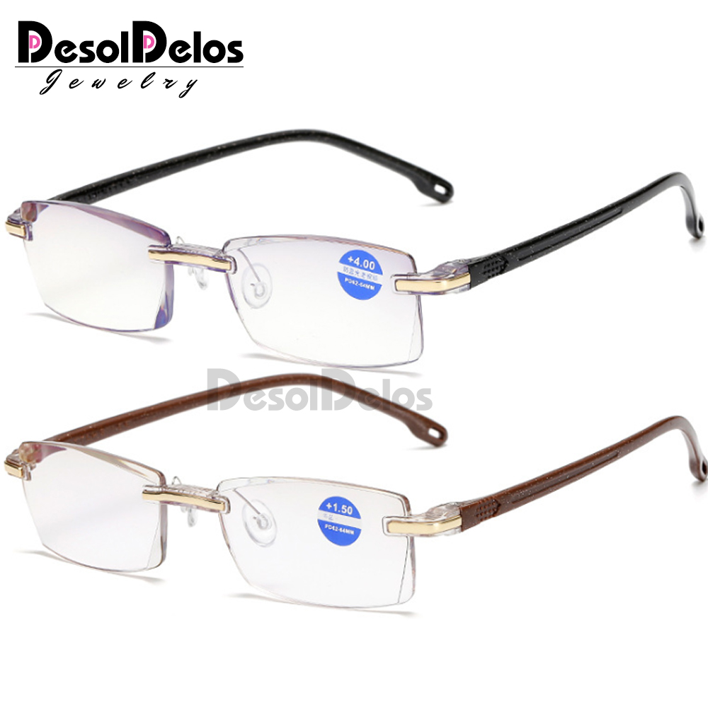 Ultralight Rimless Reading Glasses Women Men Clear Lens Anti-Blu-Ray Computer Glasses Presbyopia Reader Glasses 2019