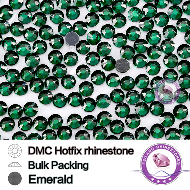 Wholesale Emerald SS6 SS10 SS16 SS20 SS30 Bulking Packing HotFix Rhinestone For Garments Bags And Shoes Sewing