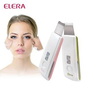 Image 1 - Новый перезаряжаемый ультразвуковой скруббер для кожи, средство для удаления акне и пятен, ультразвуковой пилинг для лица, спа, глубокий очиститель кожи, массажер