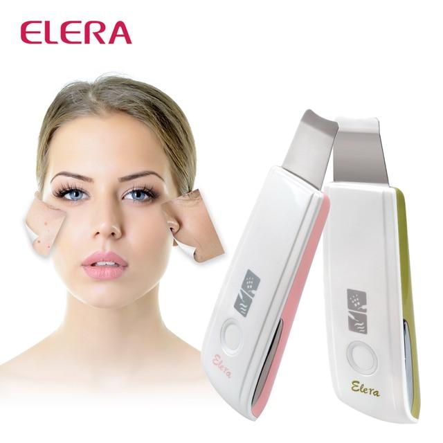 Новый перезаряжаемый ультразвуковой скруббер для кожи, средство для удаления акне и пятен, ультразвуковой пилинг для лица, спа, глубокий очиститель кожи, массажер