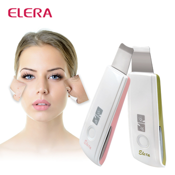 New Rechargeable Ultrasonic Skin Scrubber Acne Spot Removal Tool Ultrasound Peeling Facial Spa Deep Skin Cleaner Massager