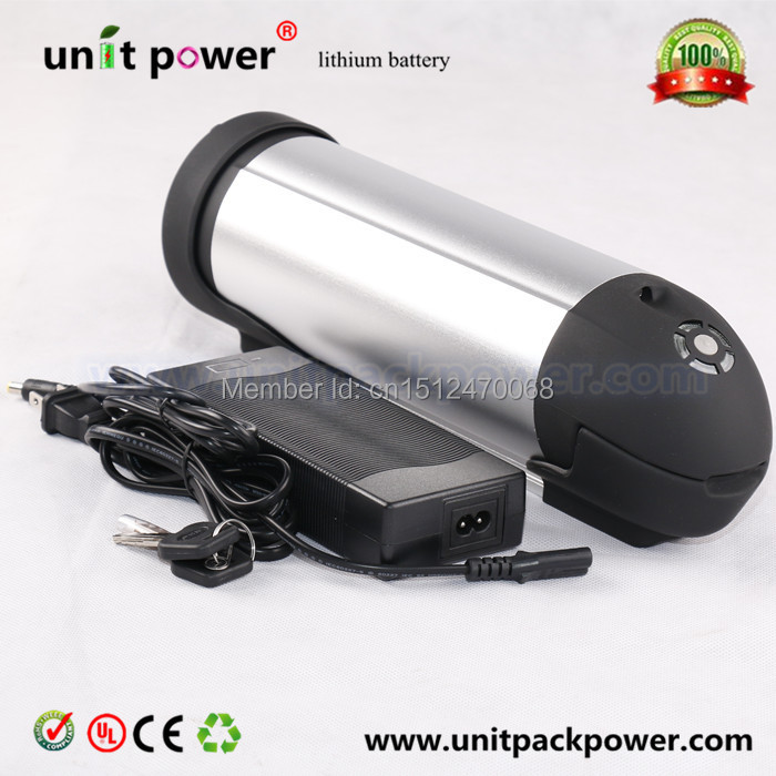 Free customs duty to EU and US Electric Bike 24v 10ah Water Bottle Li ion  Battery Pack with BMS Board and Charger us eu free customs duty lithium 48v 1000w e bike battery 48v 17ah for original panasonic 18650 cell with 5a charger 30a bms