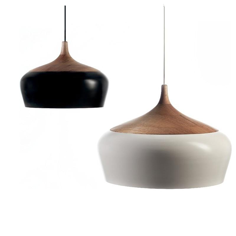 Buy Modern Aluminum Oak Wood LED Pendant