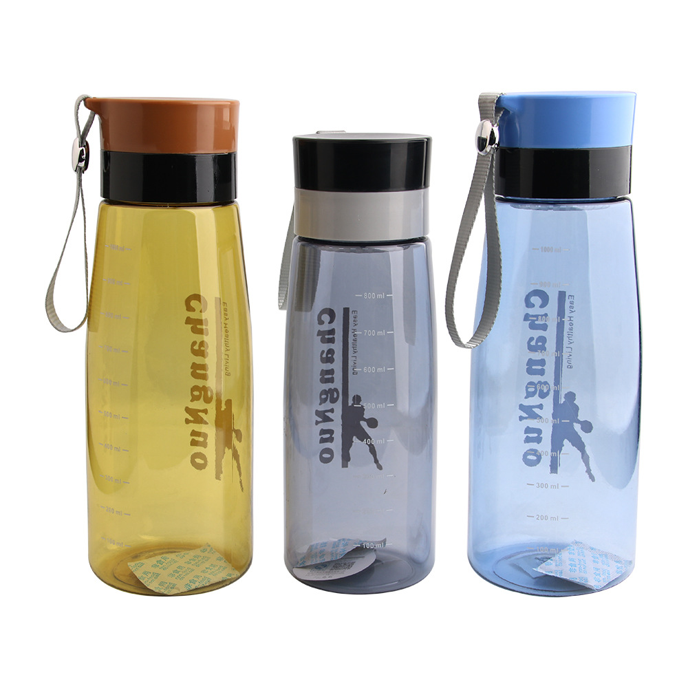 Portable Plastic Sports Water Bottle With Tea Infuser Outdoor Travel  Leakproof Tritan Plastic Drink Bottle BPA Free(China)
