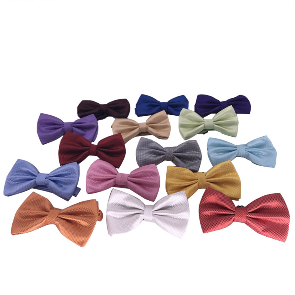 HUISHI Bow Tie Mens Checked Bowties Black Bowtie Gold  Red Green Pink Blue White Classic BowTies For Men