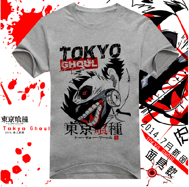 New Tokyo Ghoul T-Shirt Anime Ken Kaneki Cotton T shirt Fashion Men Women Clothes Short Sleeve Tshirt Tops