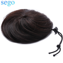 SEGO малайзийские человеческие волосы пончик-шиньон для женщин прямые не Реми волосы шт чистый цвет человеческие волосы 7 цветов