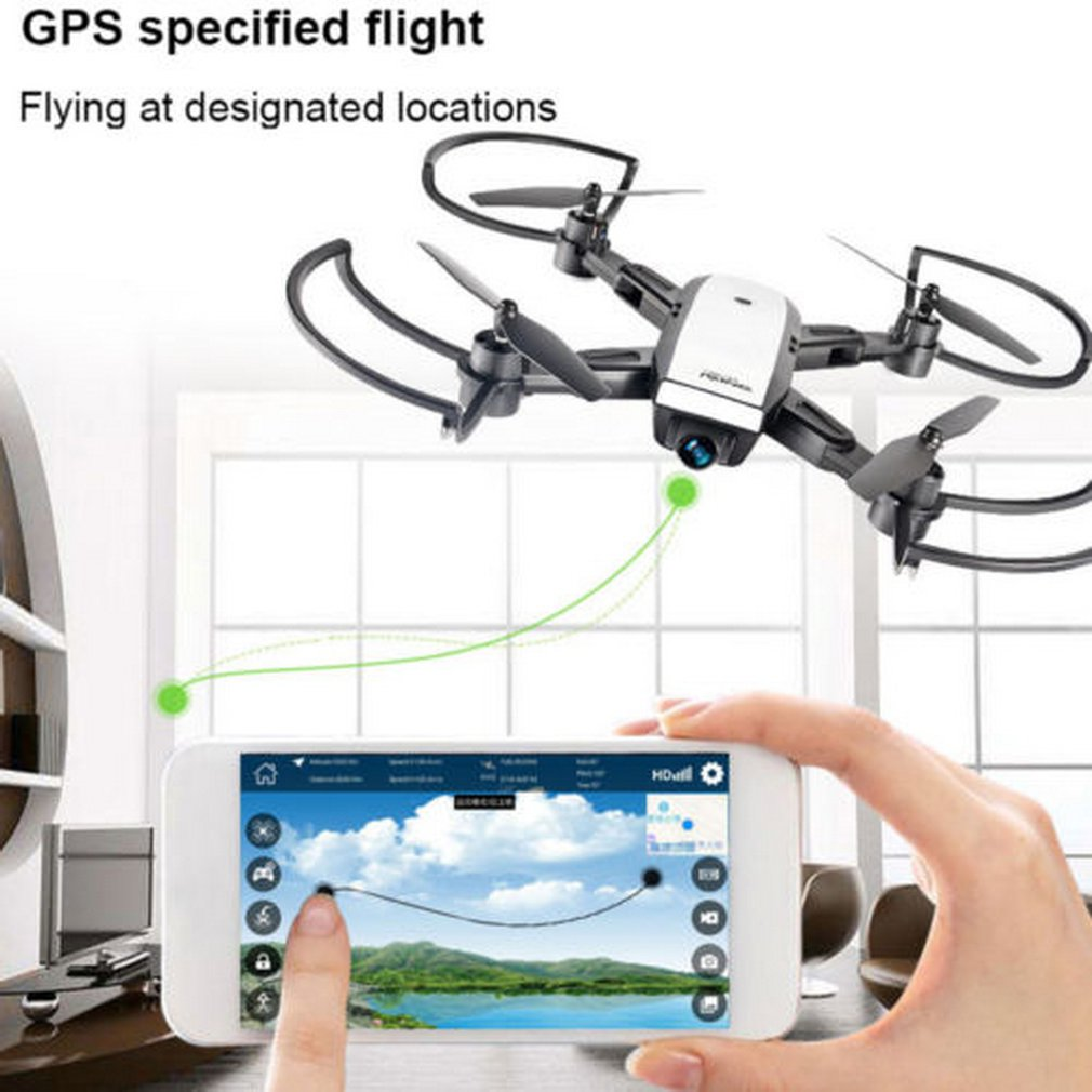LH-X28GWF Dual GPS FPV RC Drone Quadcopter with 1080P HD Camera Wifi Headless Mode RC Helicopter Model ToyLH-X28GWF Dual GPS FPV RC Drone Quadcopter with 1080P HD Camera Wifi Headless Mode RC Helicopter Model Toy