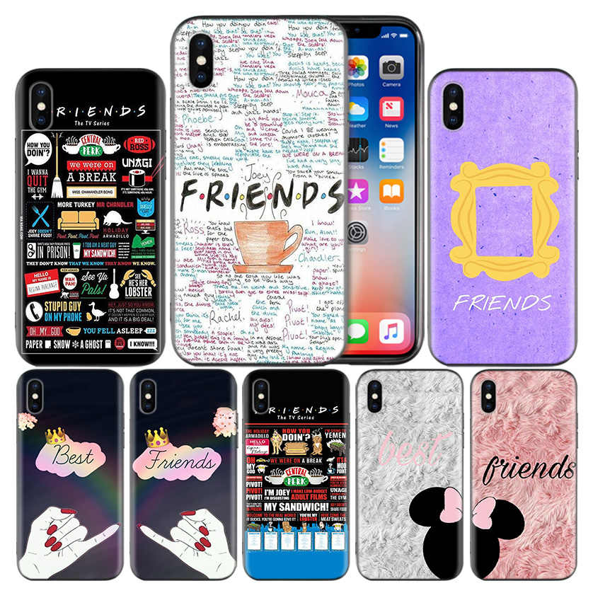 Best Friends BFF Frosted Fundas Protect Case For Apple iPhone 7 8 6 6S Plus X XS MAX XR 5 5S 5C SE 10 Ten Cover Coque