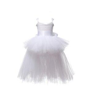 Image 5 - V ausschnitt Zug Mädchen Tutu Kleid Tüll Blume Mädchen Kleider Rosa Mädchen Hochzeit Pageant Ballkleid Kinder Mädchen Geburtstag Party Kleid