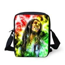 2016 Hommes de Voyage Sacs Cool 3D Reggae Music Star Bob Marley Imprimé Sac À Bandoulière Hommes Messenger Sacs Marque Bolsa Bandoulière sacs