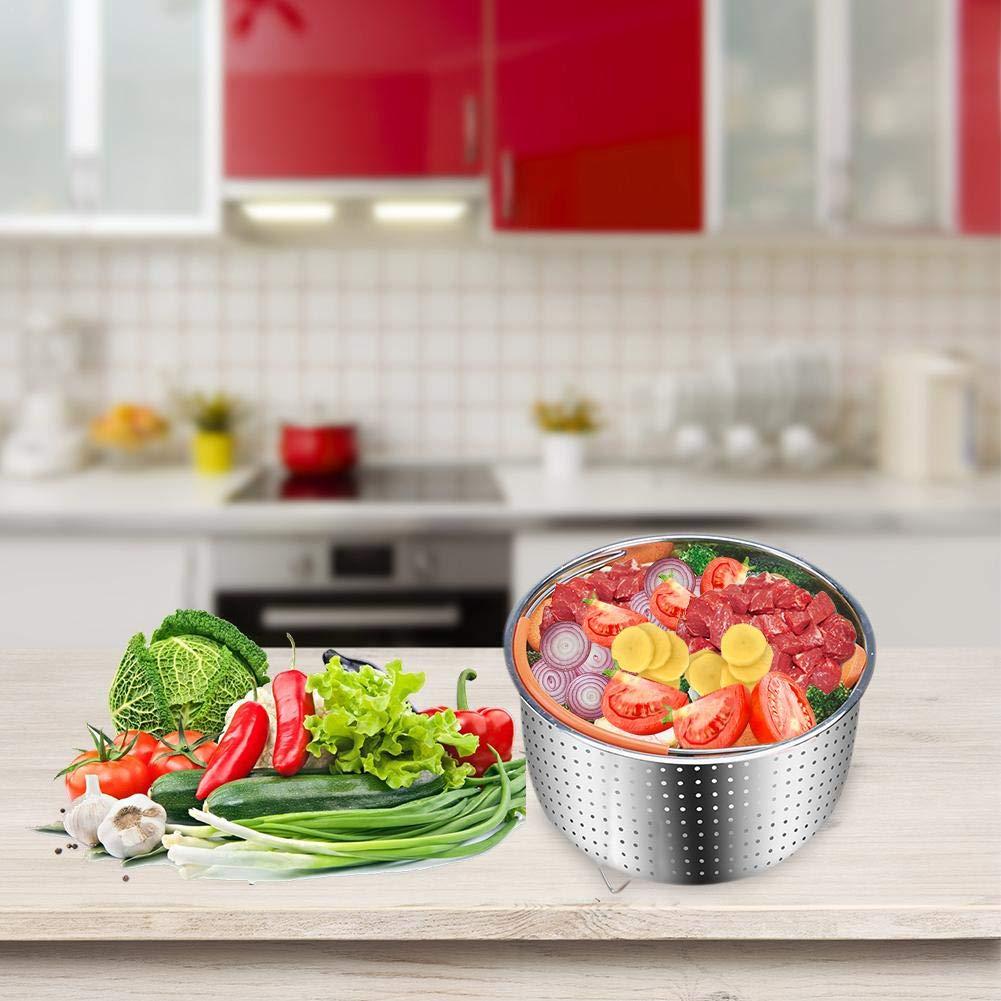 Steamer Basket For 6 Quarts Instant Pot Pressure Cooker Sturdy Stainless Steel Steamer Inserts For Steamer Vegetable Fruit Eggs