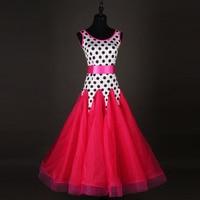 Modern dress new ballroom dancing performance sleeveless fox trot galop waltz dresses for women