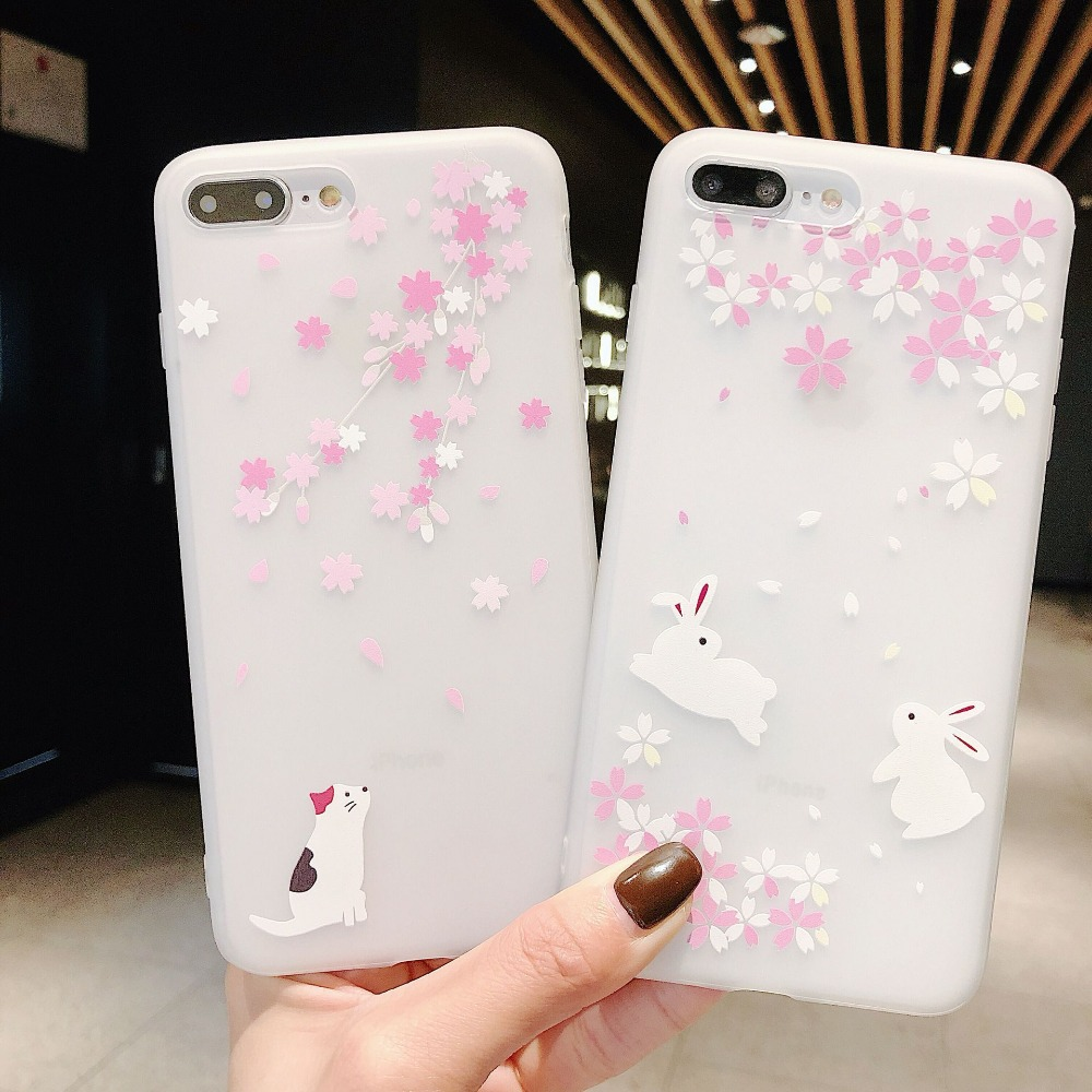 For <font><b>OPPO</b></font> F5 F7 F9 Case 3D relief Cherry Blossoms Cat TPU <font><b>Cover</b></font> For <font><b>Oppo</b></font> R9 R11 R11S A79 A37 <font><b>A57</b></font> A3 A5 A7 K1 <font><b>Back</b></font> <font><b>Cover</b></font> Shell image