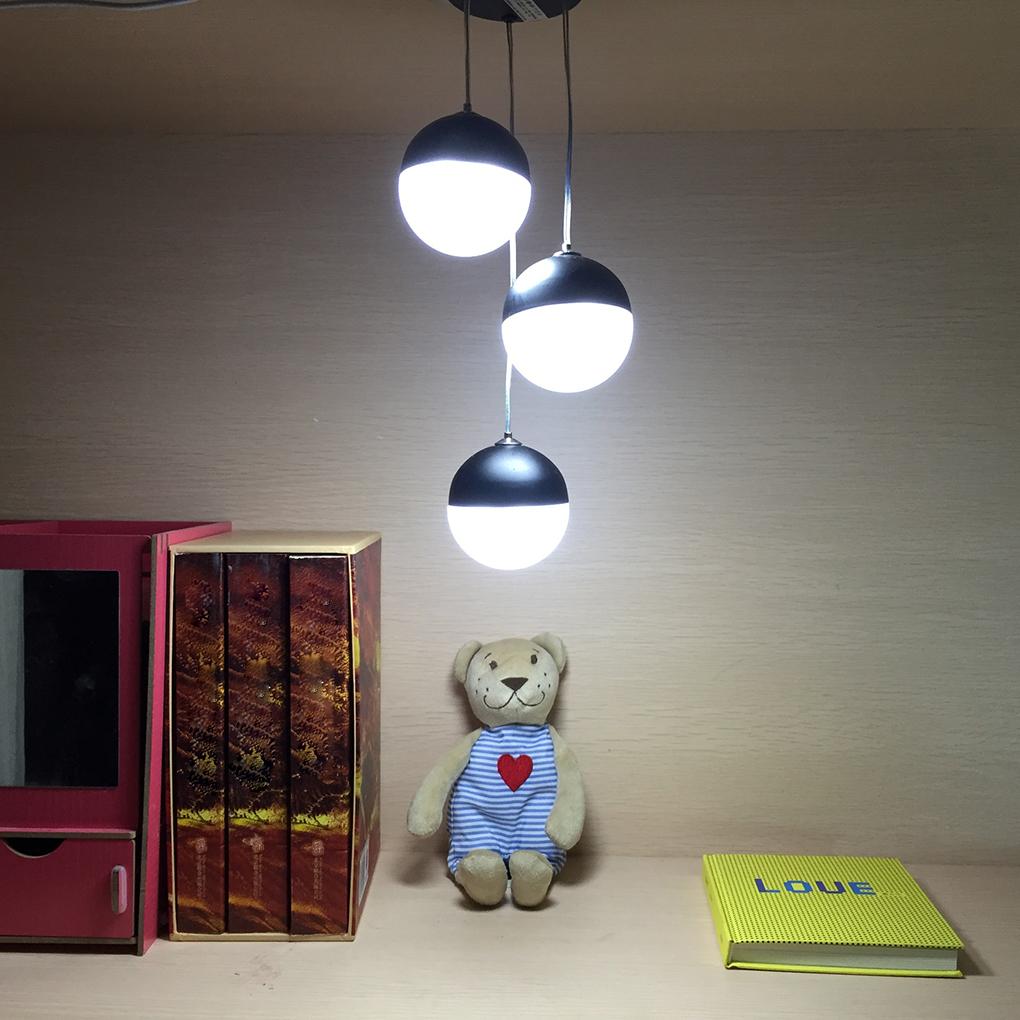 Nouvelle arrivée tactile contrôle nuit pendentif lumières art vent carillon moderne style lampe avec 3 lumières