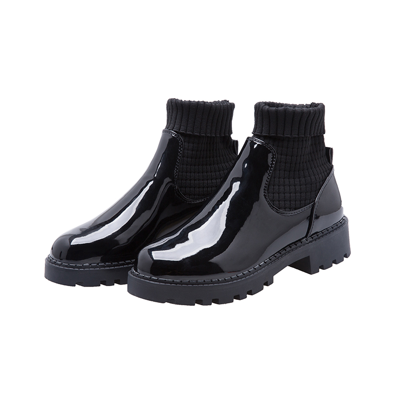 Moxxy New Autumn Fashion Oxford Casual Shoes PU Leather High Quality Soft Socks Womens Flats Black Oxfords
