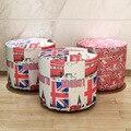 Estilo británico de Moda Para El Hogar Muebles de Oficina Del Arte Del Paño Silla Taburete Taburete Tela Suave Forro Zapatos Taburete Portátil Sala de estar