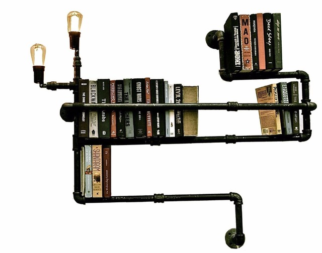 Wandplank Met Lamp.Diy Lamp Buizen Shelvesfrench Land Stijl Wandplank Waterleiding
