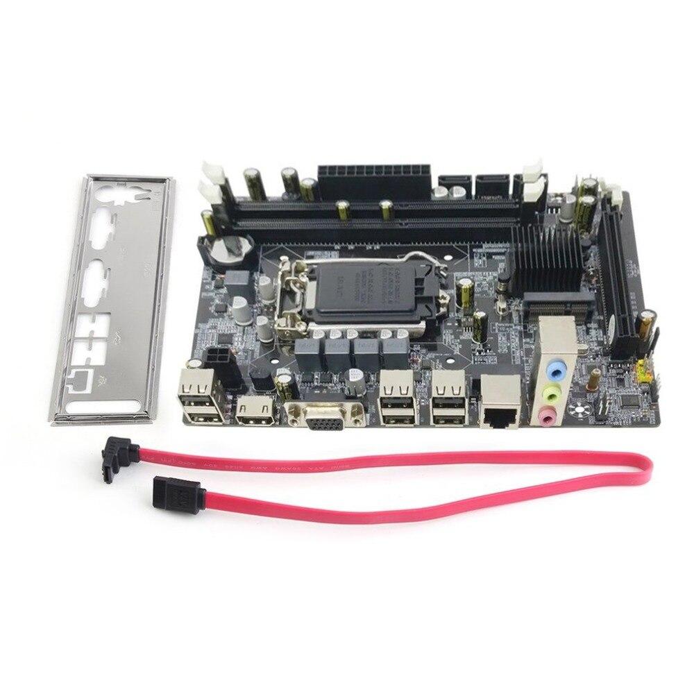 Профессиональная материнская плата H55 A1 LGA 1156 DDR3 Оперативная память 8 г доска настольного компьютера материнская плата 6-канальный плата