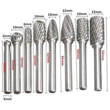 8 sztuk/zestaw 6mm-12mm węglika wolframu Burr Bit CNC grawerowanie 1/4