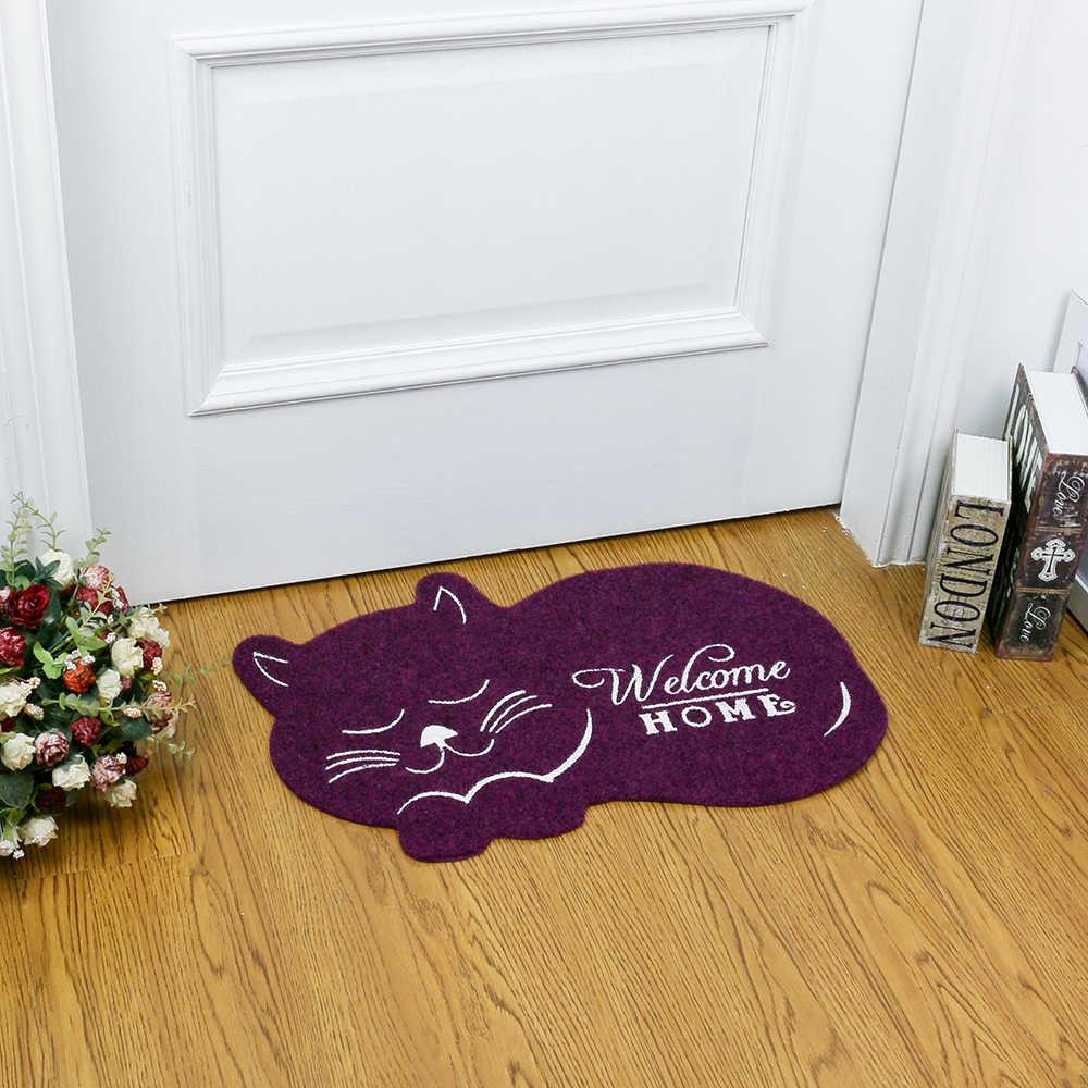 Esteira da porta da forma do gato 38*58cm antiderrapante floormat tapete de cozinha toalete tapete de absorção de água tapete antiderrapante tapete da varanda CC-002