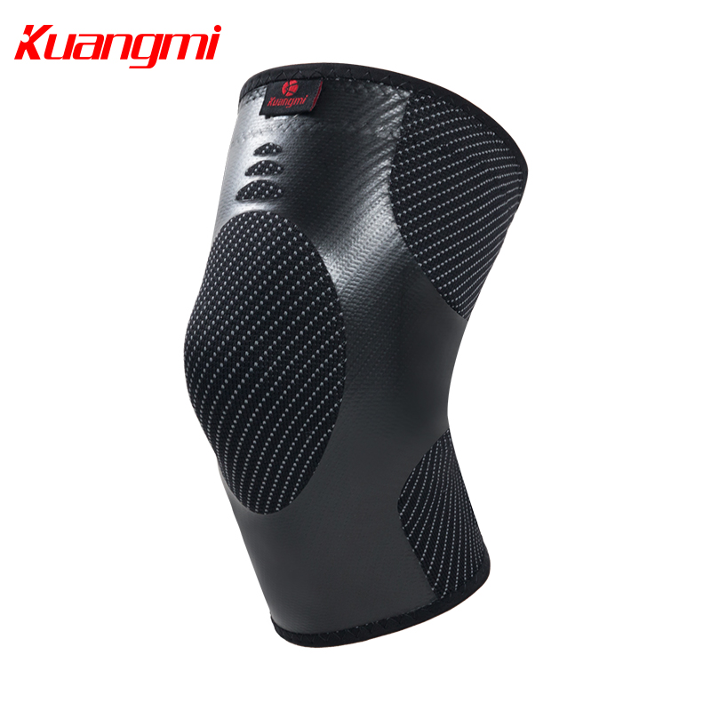 Kuangmi 1 Piece Local compression Sport Knee Pads basketball volleyball knee sleeve Prevent sprain Christmas New Year gift