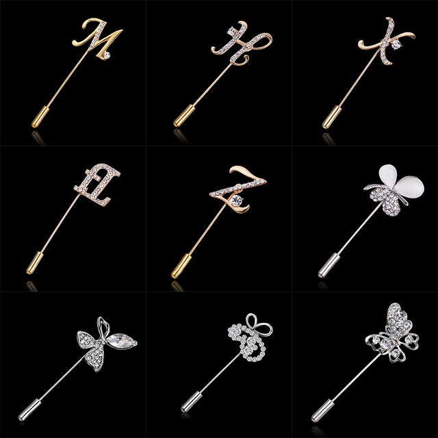 Rinhoo 2018 Large Vintage Female Pins and Brooches for Women Collar Lapel Pins B