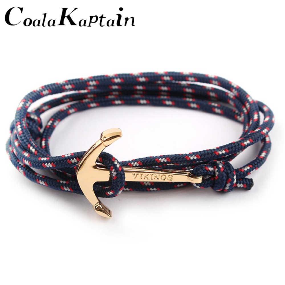 384ee27a96af Moda elegante Vintage Charm pulseras y brazaletes para hombres mujeres  caliente cuerda hecha a mano brazalete