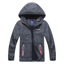 New Boys Jacket Polar Fleece Spring Autumn Kids Hooded Jackets Coat Waterproof  Windproof Children Clothes