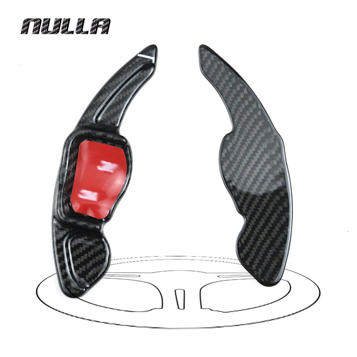 NULLA Carbon Fiber For Volkswagen VW Golf 6 CC Tiguan R20 R36 EOS Interior Steering Wheel DSG Gearbox Paddle Shifter Shift
