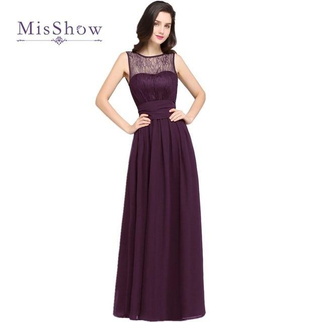 MisShow Nueva Llegada 9 Colores Barato Uva Púrpura de Encaje Gasa ...