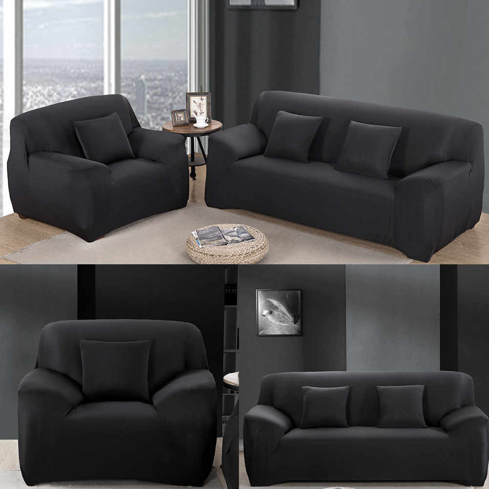 1/2/3 Seat Sofa Cover New Al-Round Leather Non-Slip Fabric Combination Sofa  Cushion Washable Home/Office/Hotel Sofa Covers