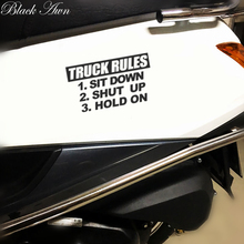 Truck rules sticker sit down hold on shut up Funny JDM Lowered car window decal D066