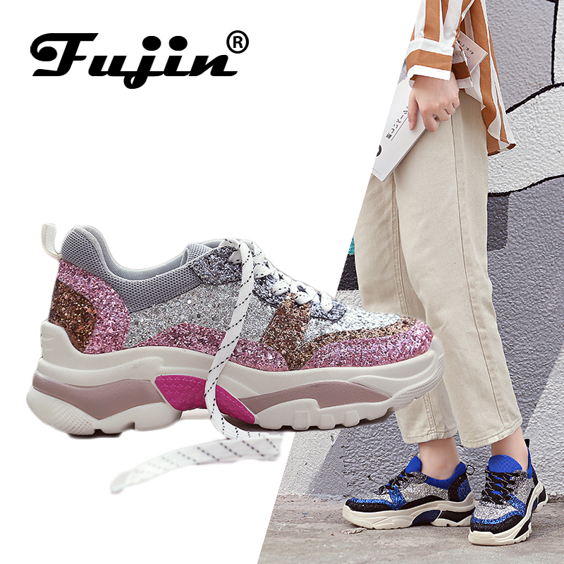 Fujin Brand 2019 Breathable Mesh Women Casual Shoes Vulcanize Female Fashion Sneakers Lace Up Soft High Leisure FootwearsFujin Brand 2019 Breathable Mesh Women Casual Shoes Vulcanize Female Fashion Sneakers Lace Up Soft High Leisure Footwears