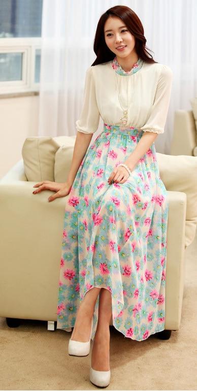Long dress korean style