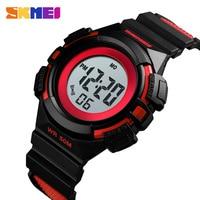 SKMEI Brand Children Watch Luxury Stopwatch Waterproof Bracelet Luminous Led Digital Watches For Boy Kids Watch Alarm Clock 2019