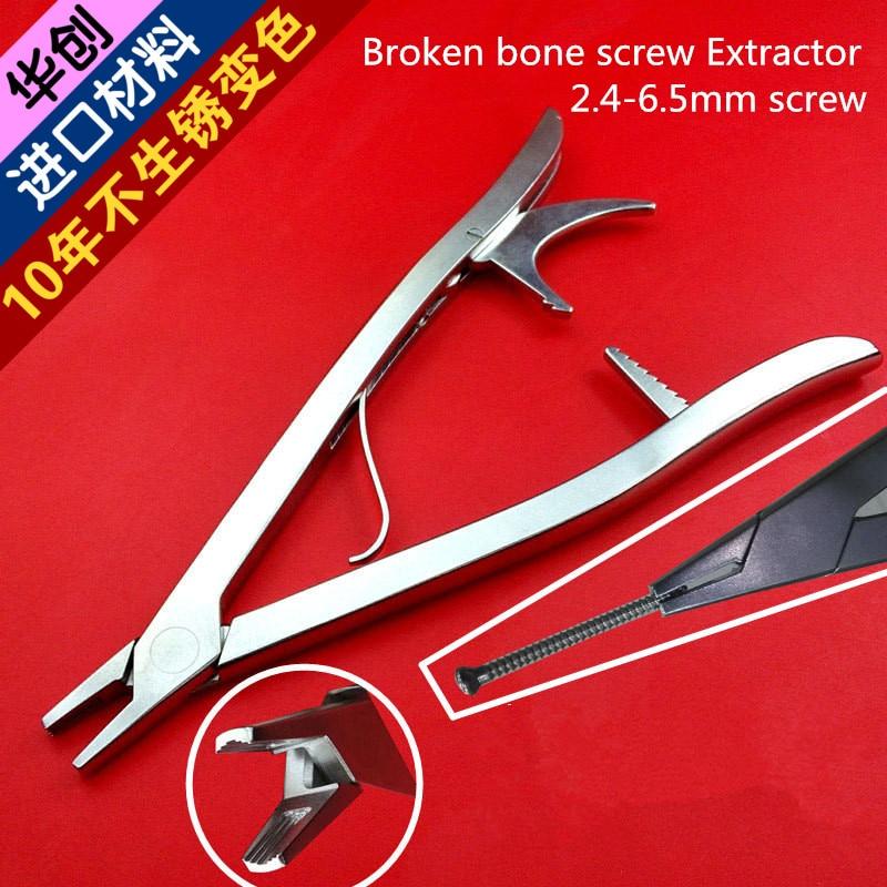 Installation orthopédique médicale extracteur de vis à os cassé vis de verrouillage k fil enlevant le tour inverse d'extracteur de clou de cannelure de forcep