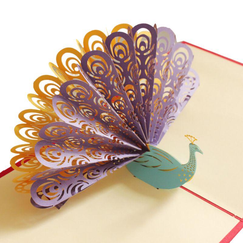 как сделать открытку павлина из бумаги кажется