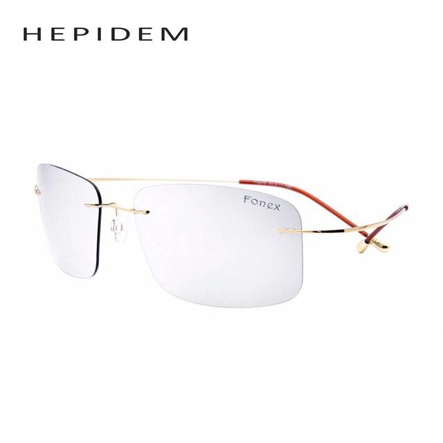 New Men Titanium Polarized Sunglasses Women Brand Designer ultra light Gold/Gray Frame Silver Lens Sun Glasses with original box